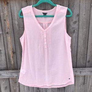 Eddie Bauer 100% Cotton Baby Pink sLeeveless Top.
